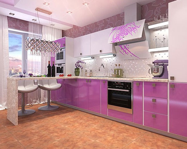 Кухня 4 на 2 дизайн
